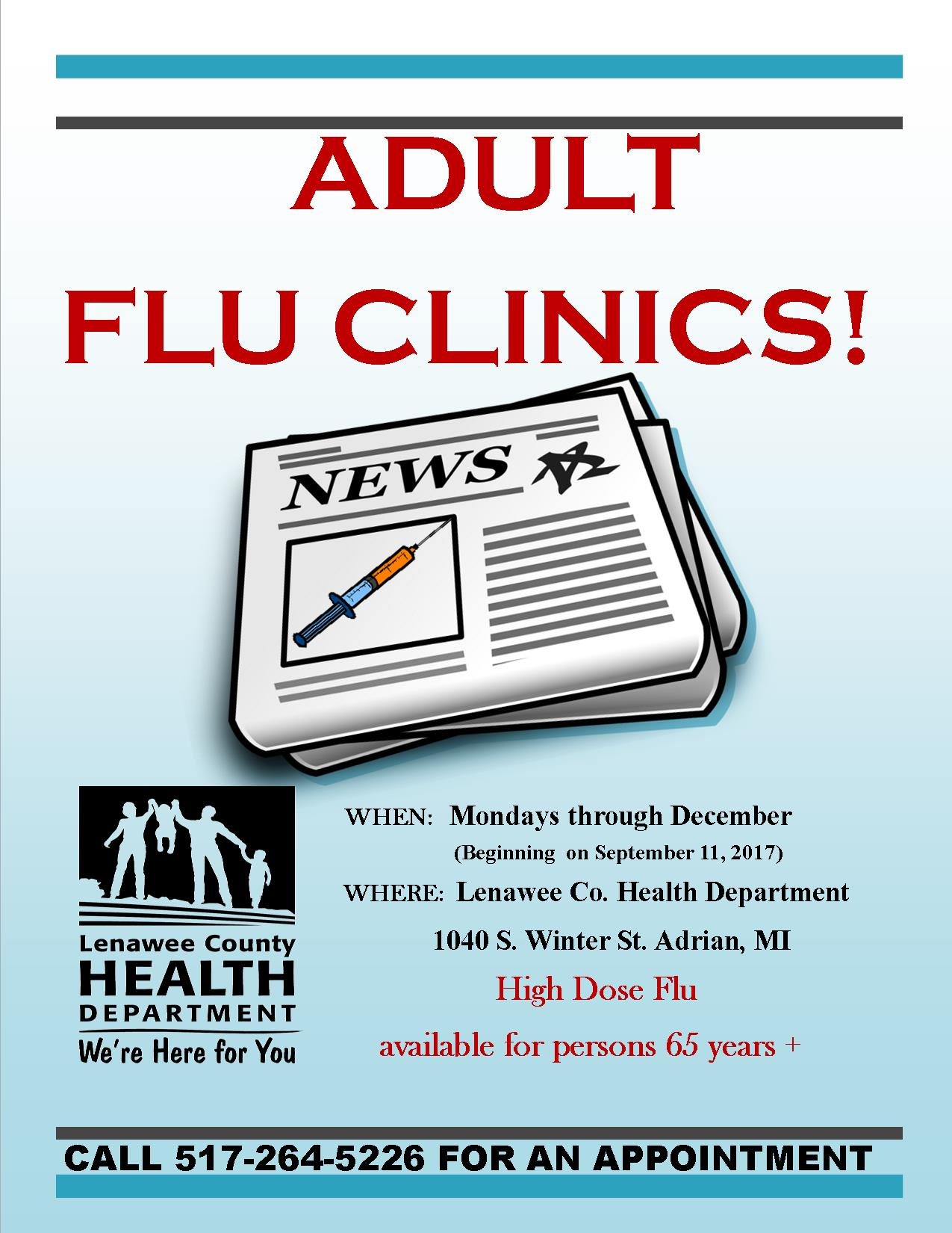 Adult Flu clinics 2017-18