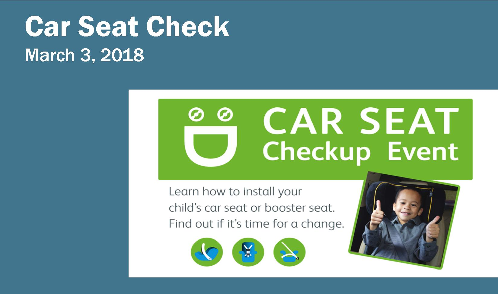 Car Seat Check Announcement