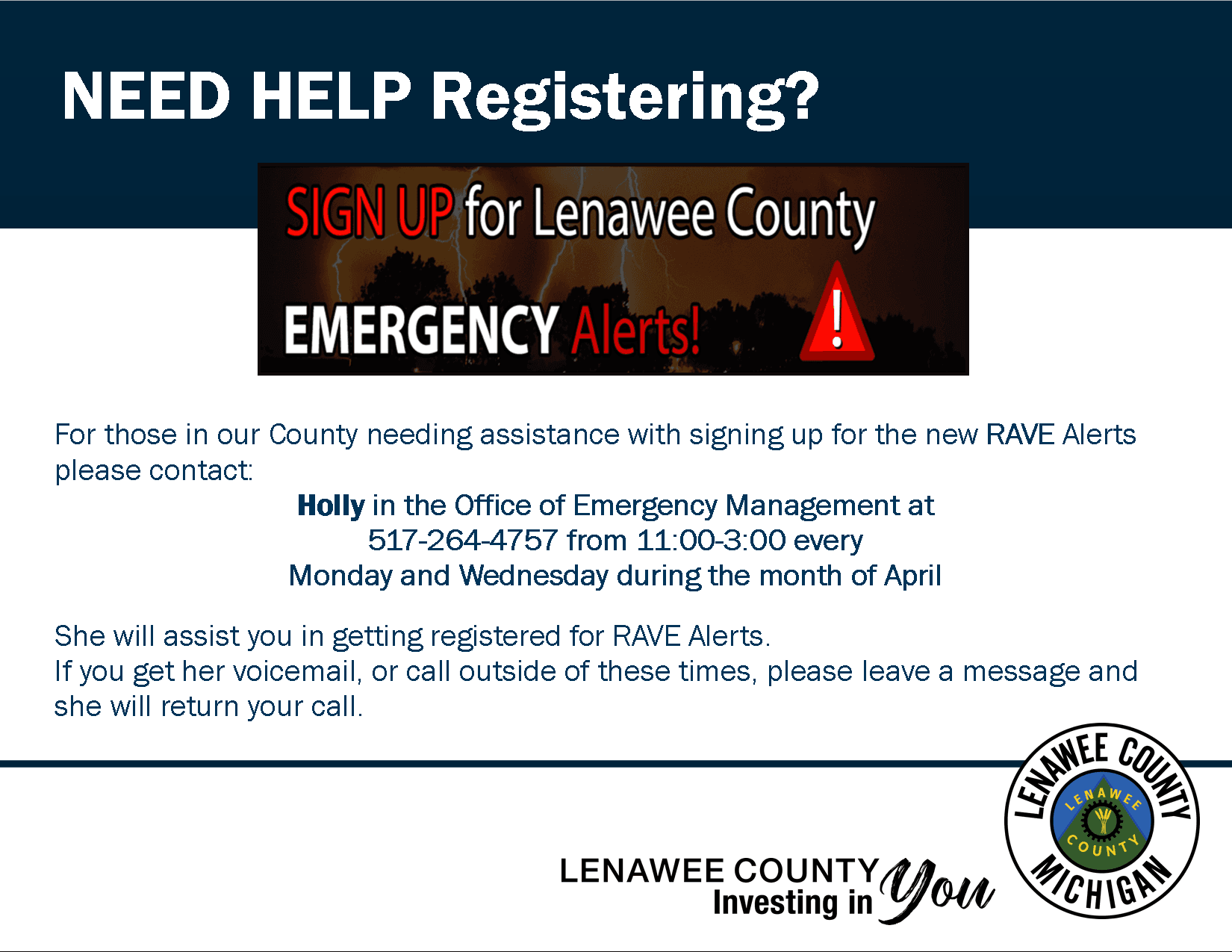 Need Help Registering for RAVE Alerts