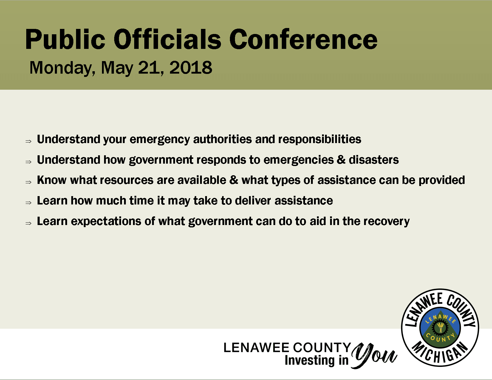 Public Officials Conference