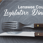 Legislative Dinner, Steak knife and fork laid on dinner plate