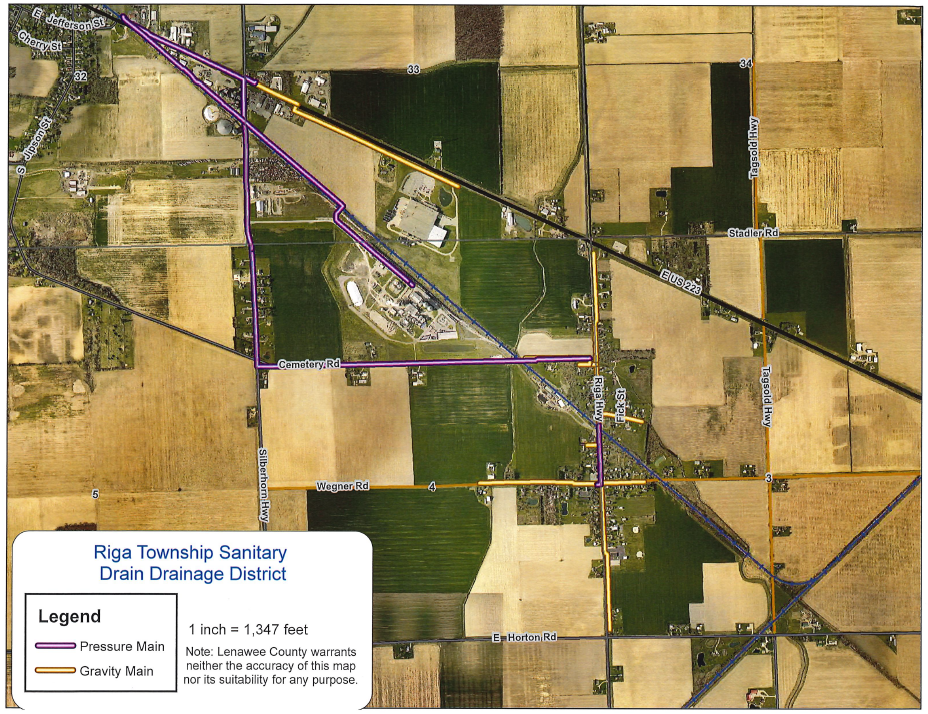Riga Township Sanitary Drain Map