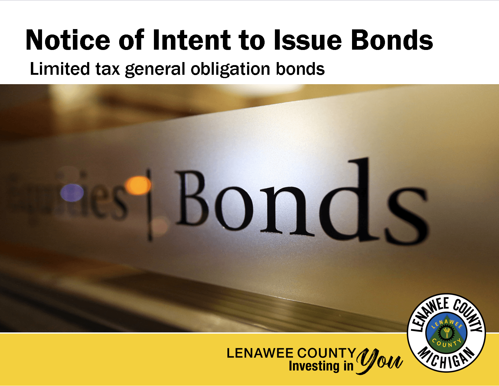 Notice of Intent above the word BONDS