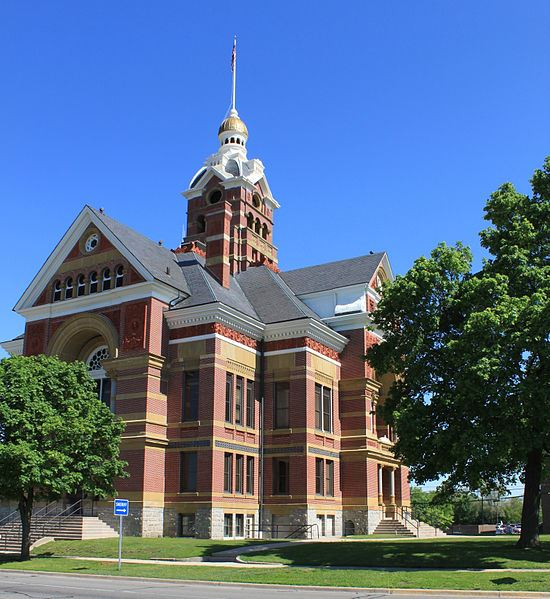 Lenawee historic courthouse from North East