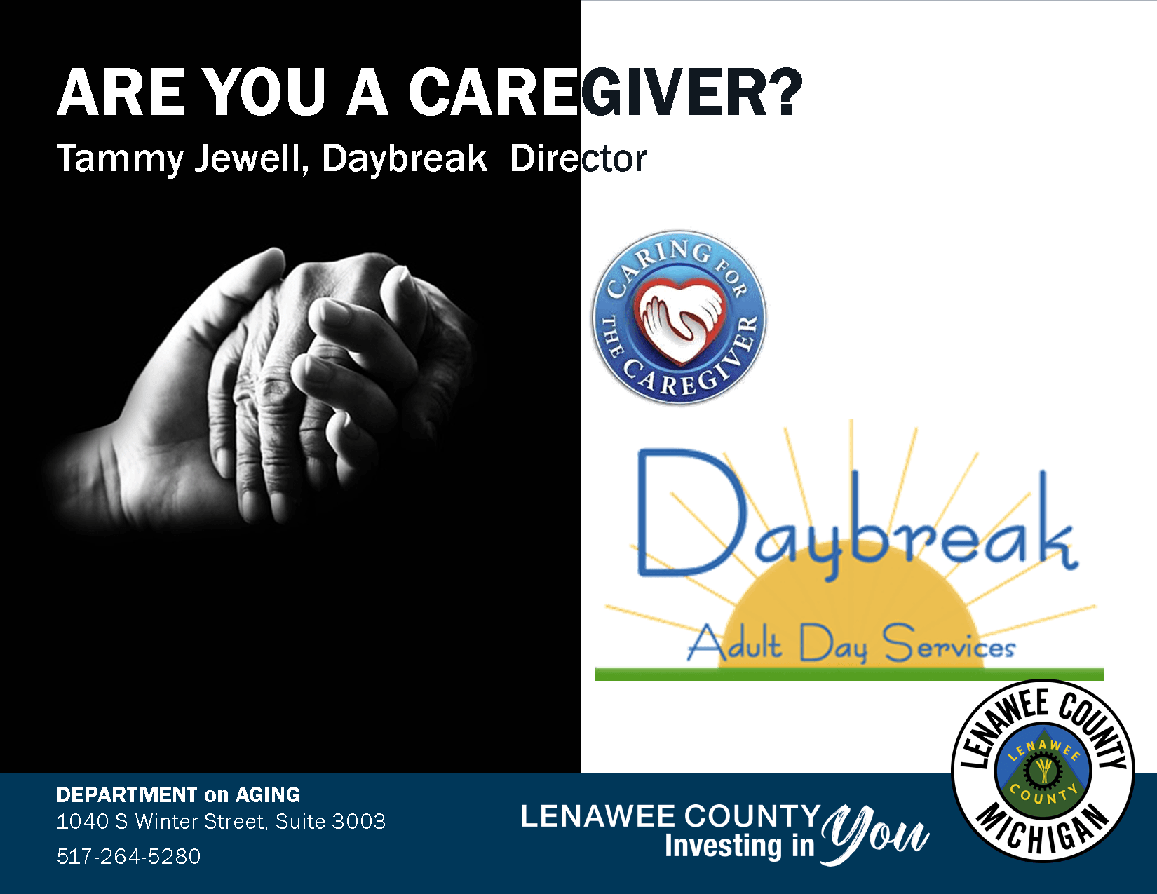 Caregiver hands, Daybreak sunrise, Caring for Cargivers