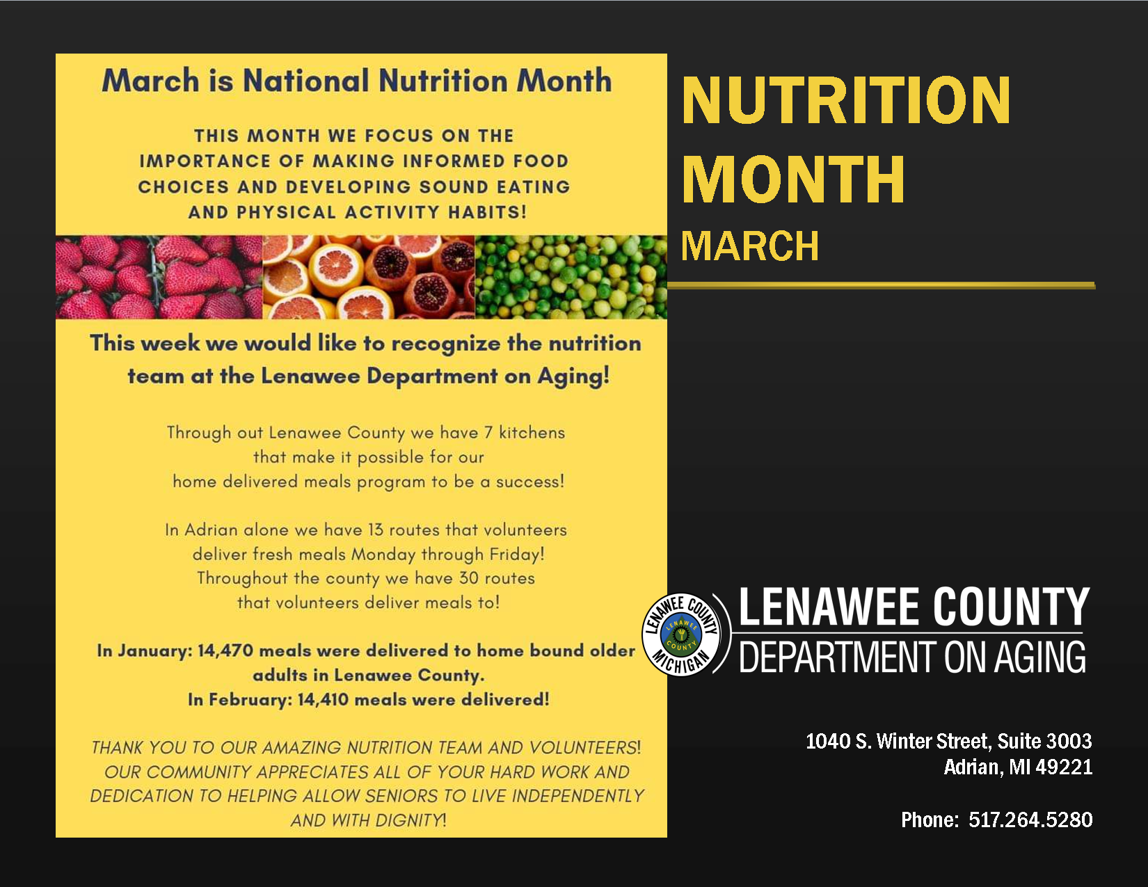 LDA nUTRITION MONTH