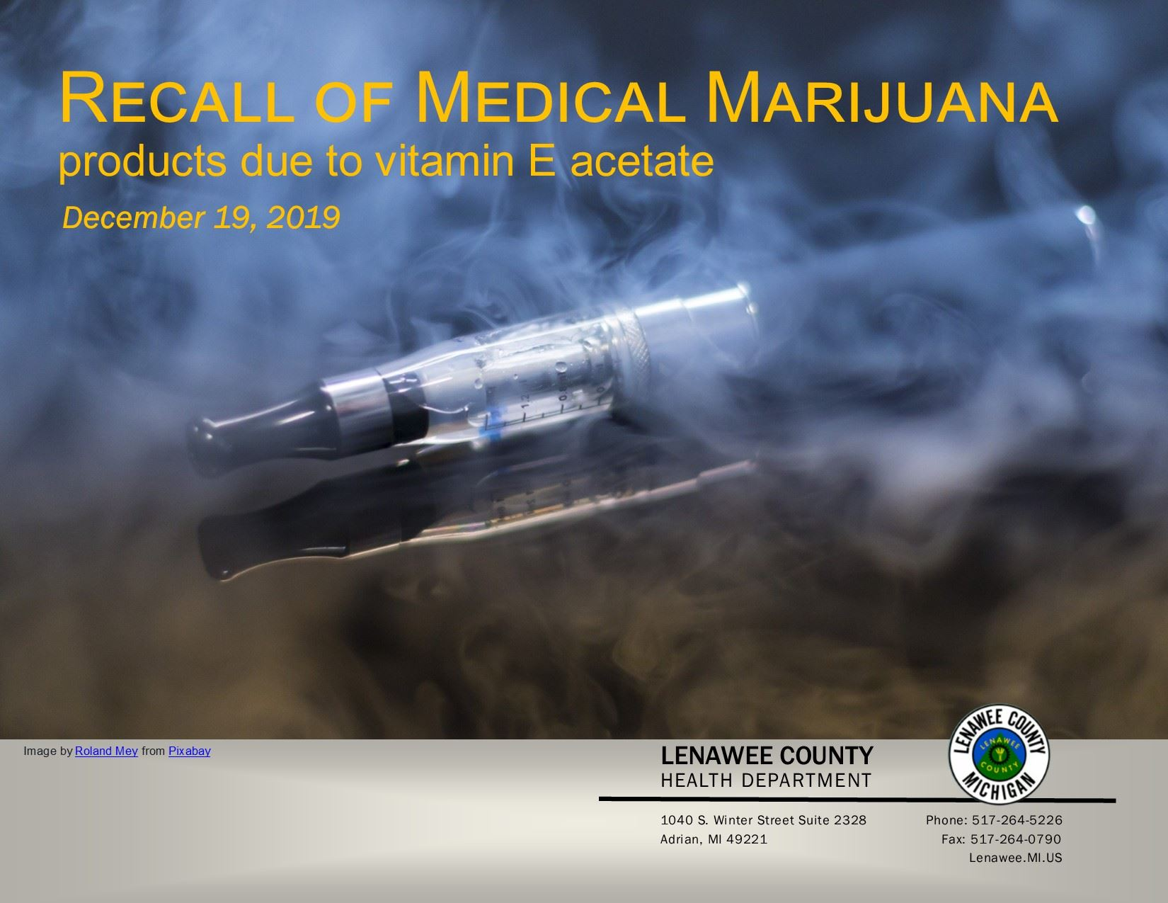HealthDep Newsflashes ECigarette