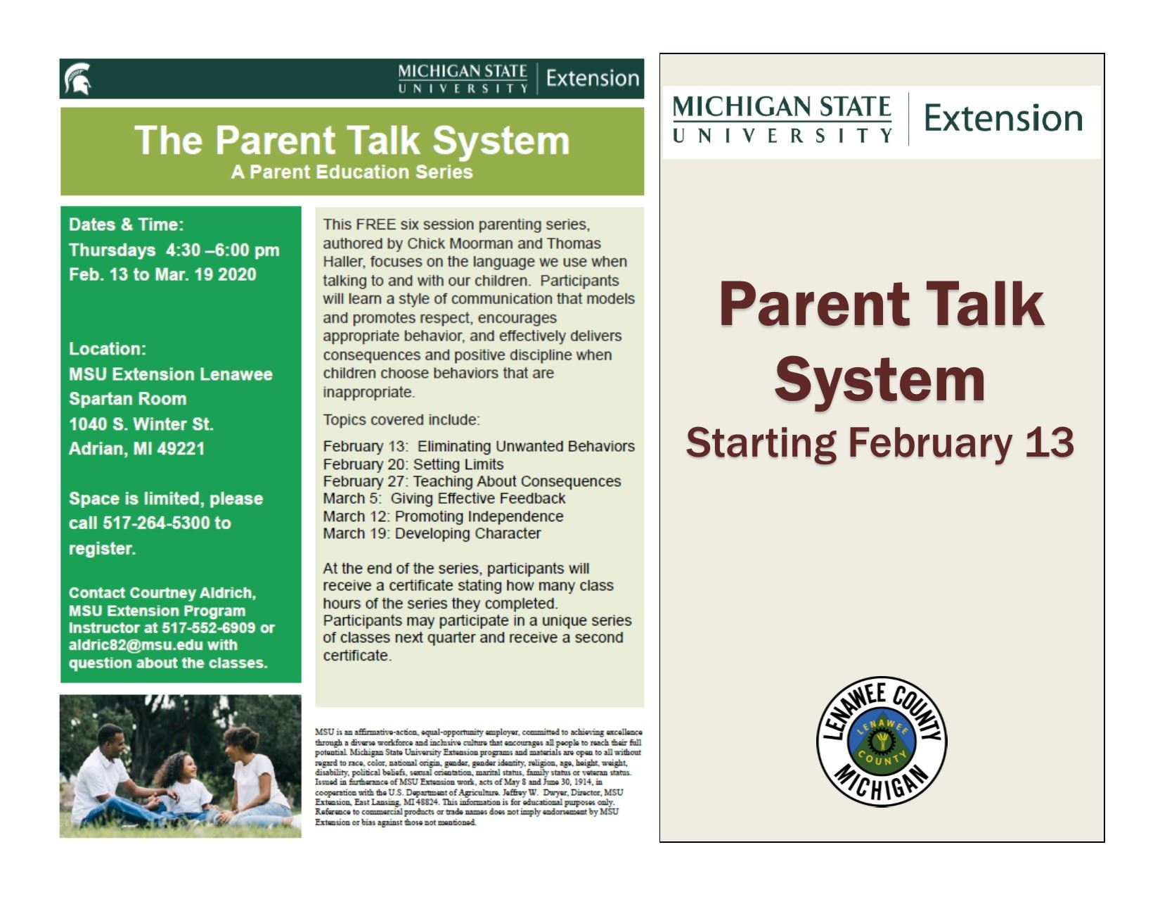 ParentTalk Flyer