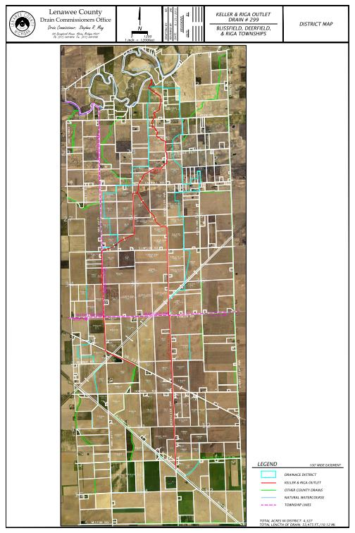 Keller & Riga Drain District Map