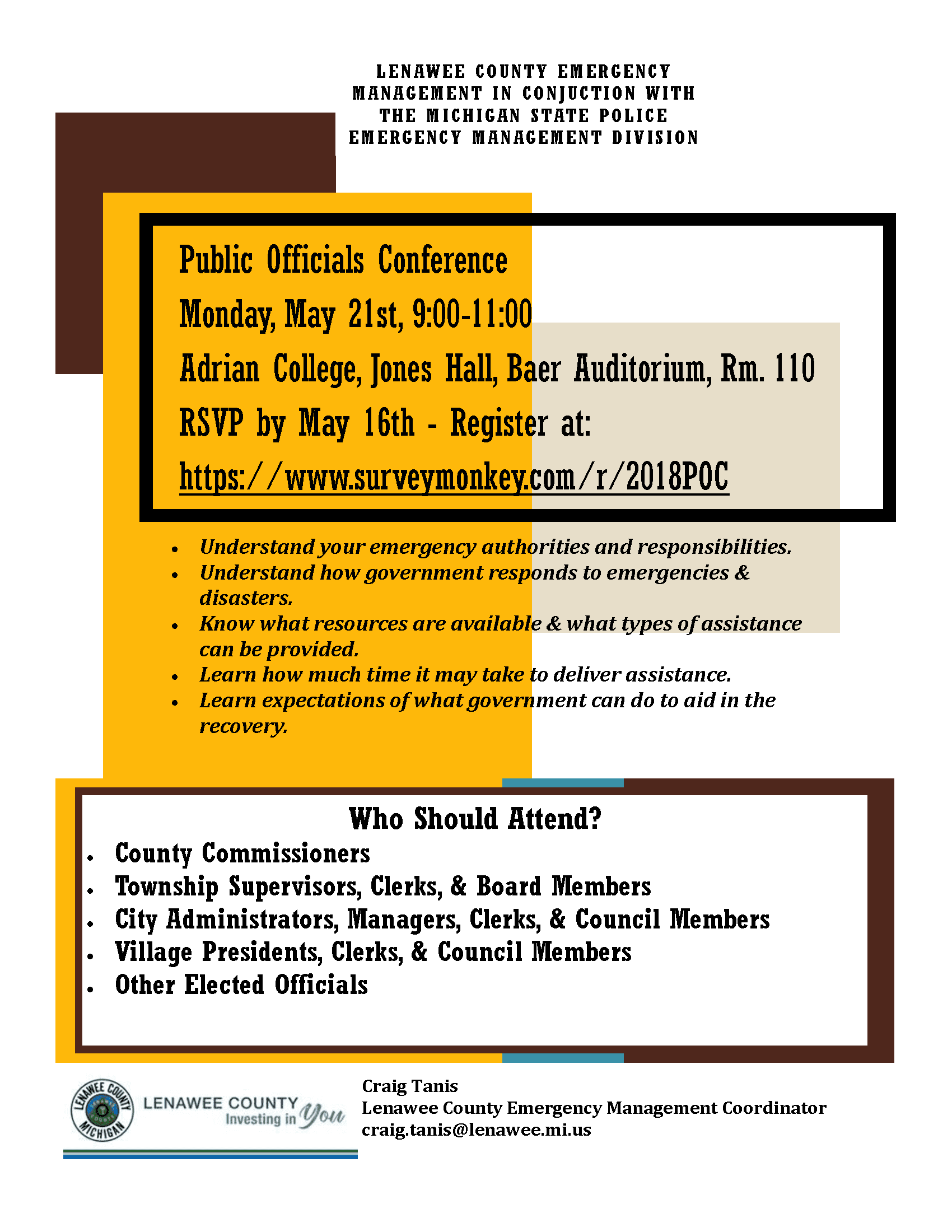 Public Officials Conference Flyer - 5.21.18
