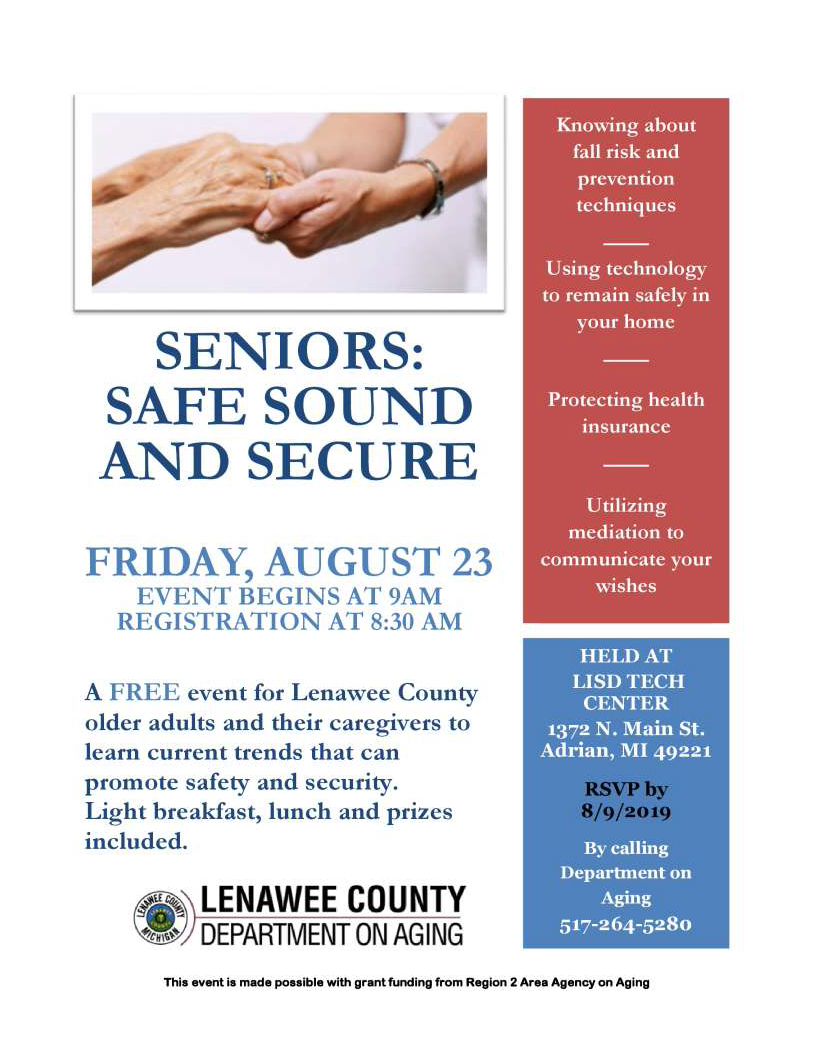 Lenawee_DOA_Seniors_Safe_sound_secure_082319