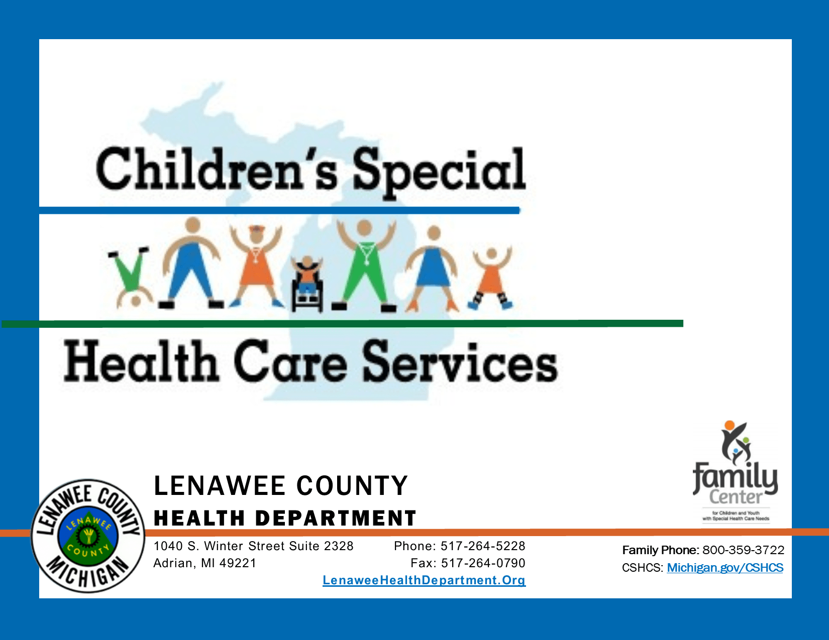 Childrens Special Health Care Services logo of clipart kids