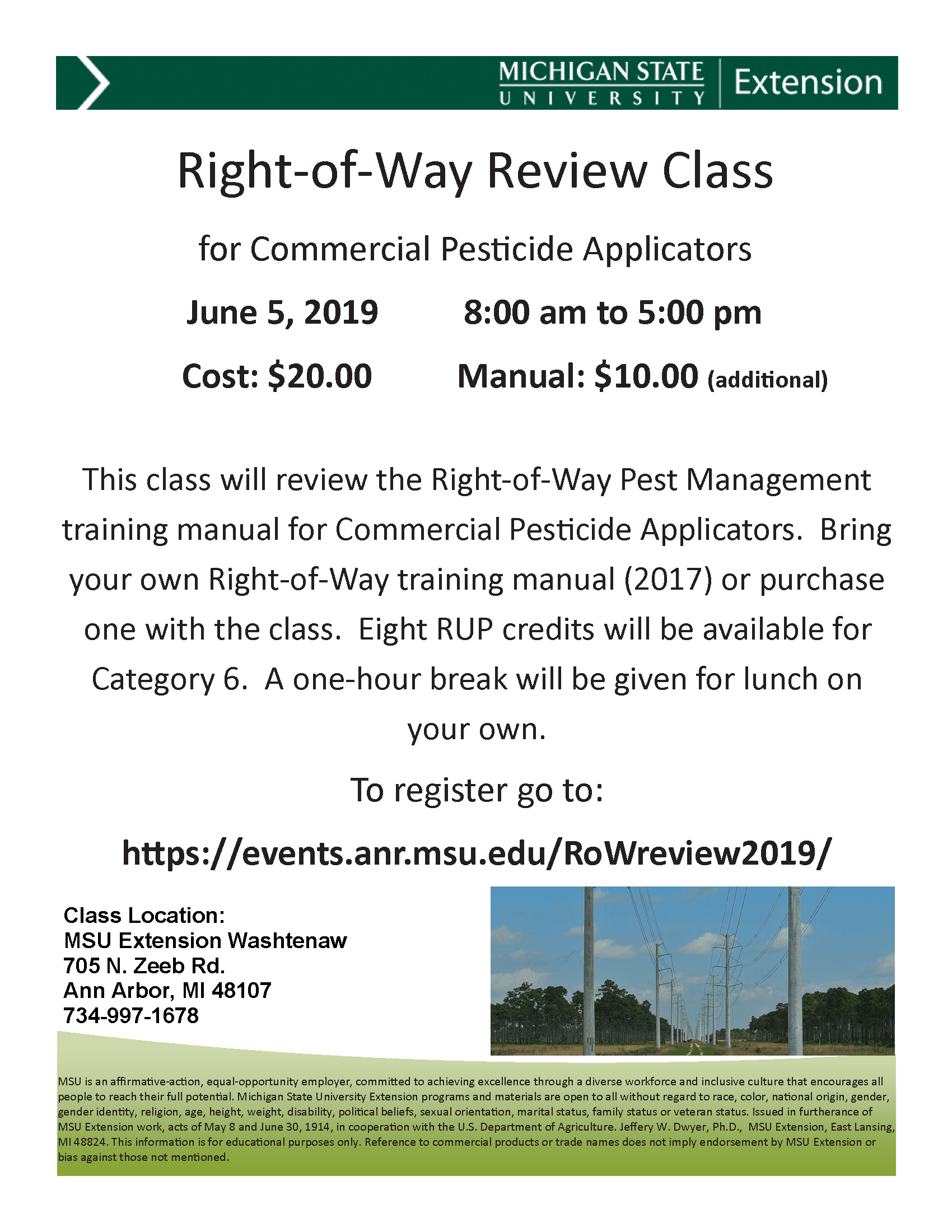 Right of Way Class